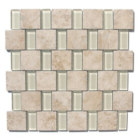 GBI Tile &amp; Stone Inc. 12-in x 12-in Capri Glazed Porcelain/Glass Wall Tile