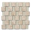 GBI Tile & Stone Inc. Capri Glass Glazed Porcelain Mosaic Subway Thinset Mortar Wall Tile (Common: 12-in x 12-in; Actual: 11.81-in x 11.81-in)