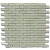 12-In x 12-In Ivory/Gloss/Glass Glass Mosaic Subway Wall Tile (Actuals 11.97-in x 11.97-in)