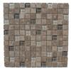 GBI Tile & Stone Inc. 12-in x 12-in Capri Charcoal Glazed Porcelain Mosaic Square Wall Tile (Actuals 12-in x 12-in)