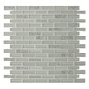 GBI Tile & Stone Inc. Gemstone White Subway Mosaic Glass Wall Tile (Common: 12-in x 12-in; Actual: 11.97-in x 11.97-in)