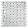 allen + roth Marble Carrara Circular Mosaic Marble Wall Tile (Common: 12-in x 12-in; Actual: 11.81-in x 12.04-in)