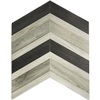 allen + roth Graphite Linear Mosaic Ceramic Wall Tile (Common: 18-in x 14-in; Actual: 13.9-in x 14.35-in)