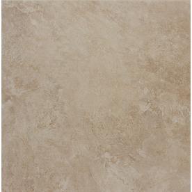 Style Selections Sienna Almond Glazed Porcelain Indoor/Outdoor Floor Tile (Common: 18-in x 18-in; Actual: 17.72-in x 17.72-in)