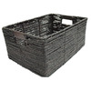 allen + roth 10.5-in W x 6.75-in H Maize Storage Crate