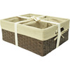 Rectangular Woven Bin and Basket Set
