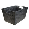 Style Selections Style Selection 10-in W x 8-in H x 14-in D Black Paper Basket