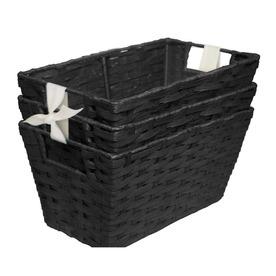 Style Selections 7-in W x 6-in H x 12-in D Black Paper Bin