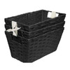 Style Selections 7-in W x 6-in H Black Paper Bin