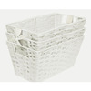 Style Selections 7-in W x 6-in H White Paper Bin