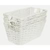 Style Selections 7-in W x 6-in H x 12-in D White Paper Bin