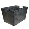Style Selections 12-in W x 10-in H Black Paper Bin