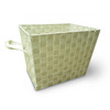 Style Selections 14.25-in W x 11-in H Cream Fabric Milk Crate