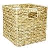 10.7-in W x 11-in H x 10.7-in D Natural Water Hyacinth Milk Crate
