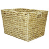 14.25-in W x 12-in H x 18-in D Natural Water Hyacinth Basket
