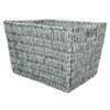 14.25-in W x 12-in H x 18-in D Gray Wash Maize Basket