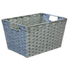 10-in W x 8-in H x 14-in D Grey Woven Paper Cord Basket