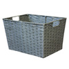 12-in W x 10-in H x 16-in D Grey Woven Paper Cord Basket