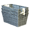 3-Pack 7-in W x 9-in H x 12-in D Grey Woven Paper Cord Baskets