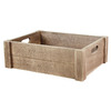 12-in W x 5-in H x 16-in D Oak Wood Basket