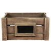 10.5-in W x 7-in H x 14.5-in D Oak Wood Basket