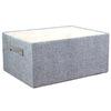 11.5-in W x 7-in H x 15.5-in D Grey Paper Basket