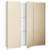 Style Selections 24.25-in x 25-in Surface Medicine Cabinet