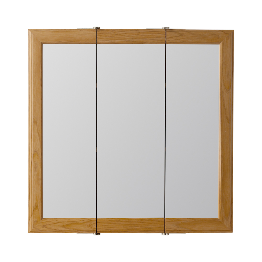 24 in oak particleboard surface mount medicine cabinet at
