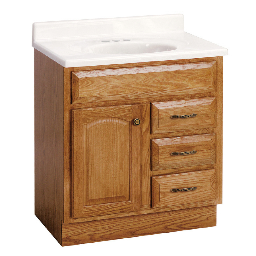 Shop Project Source 30quot; Oak Elegance Bath Vanity at Lowes.com
