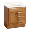 "Project Source 30"" Oak Elegance Bath Vanity"