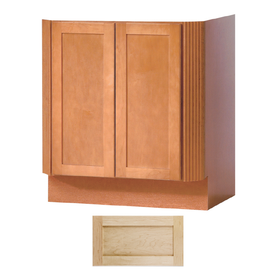 shop insignia crest maple transitional bathroom vanity common 30 in x 24 in actual