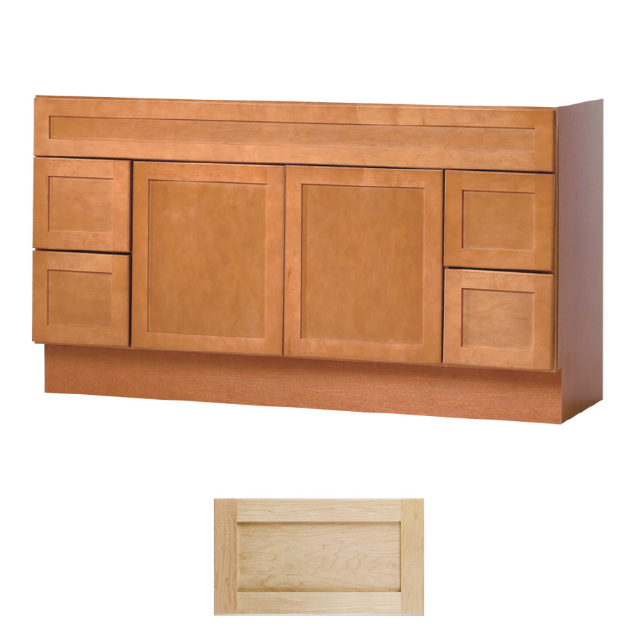Shop insignia crest natural maple transitional bathroom for 60 x 21 bathroom vanity