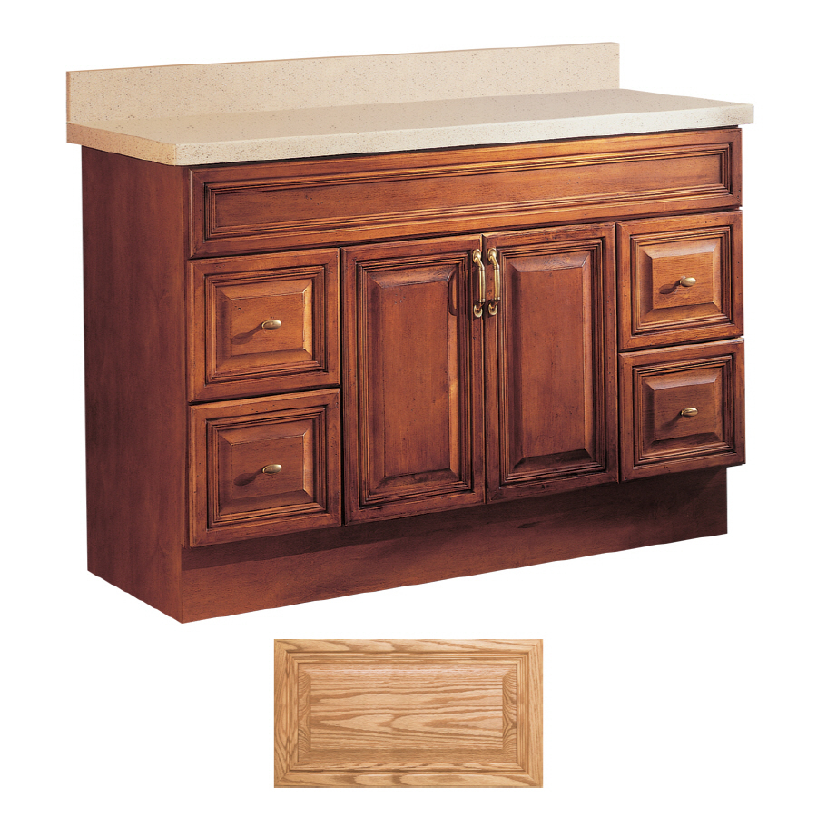 Shop Insignia Ridgefield Medium Oak Traditional Bathroom