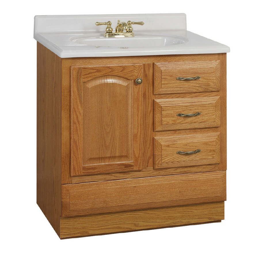 30quot; Oak Elegance Bottom Drawer Traditional Bath Vanity at Lowes.com
