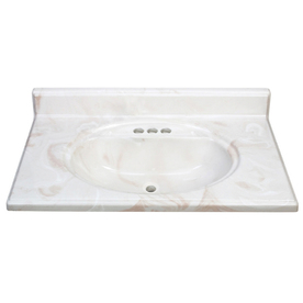 "ESTATE by RSI 37""W x 22""D Caramel Premium Cultured Marble Vanity Top"