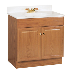 Shop Project Source 31 In Oak Richmond Single Sink Bathroom Vanity With Top At