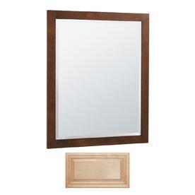 Insignia Insignia 32-in H x 26-in W Natural Maple Rectangular Bathroom Mirror