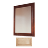 Insignia 36-in H x 30-in W Insignia Natural Maple Rectangular Bathroom Mirror