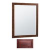 Insignia 32-in H x 26-in W Insignia Burgundy Rectangular Bathroom Mirror