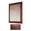 Insignia 36-in H x 30-in W Insignia Burgundy Rectangular Bathroom Mirror