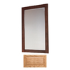 Insignia 32-in H x 20-in W Insignia Medium Oak Rectangular Bathroom Mirror