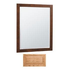 Insignia Insignia 32-in H x 26-in W Medium Oak Rectangular Bathroom Mirror