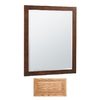 Insignia 32-in H x 26-in W Insignia Medium Oak Rectangular Bathroom Mirror