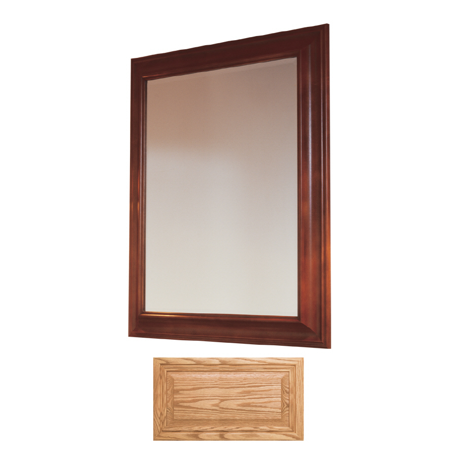 shop insignia insignia 36 in h x 30 in w medium oak rectangular bathroom mirror at. Black Bedroom Furniture Sets. Home Design Ideas