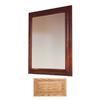 Insignia Insignia 36-in H x 30-in W Medium Oak Rectangular Bathroom Mirror