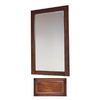 Insignia 32-in H x 20-in W Insignia Antique Cognac Rectangular Bathroom Mirror