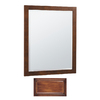 Insignia 32-in H x 30-in W Insignia Antique Cognac Rectangular Bathroom Mirror