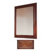 Insignia 36-in H x 30-in W Insignia Antique Cognac Rectangular Bathroom Mirror