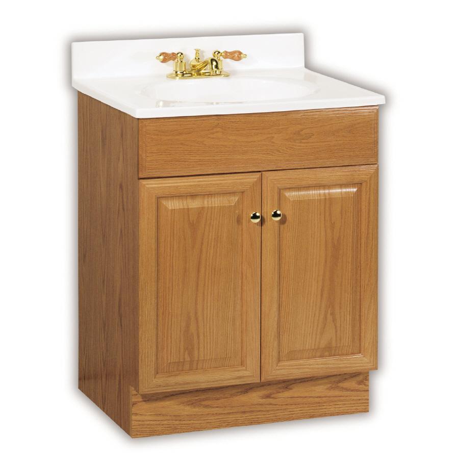 25 in oak richmond single sink bathroom vanity with top at