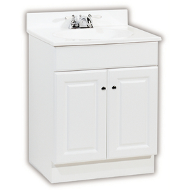 Shop Project Source 25 In White Richmond Single Sink Bathroom Vanity With Top At